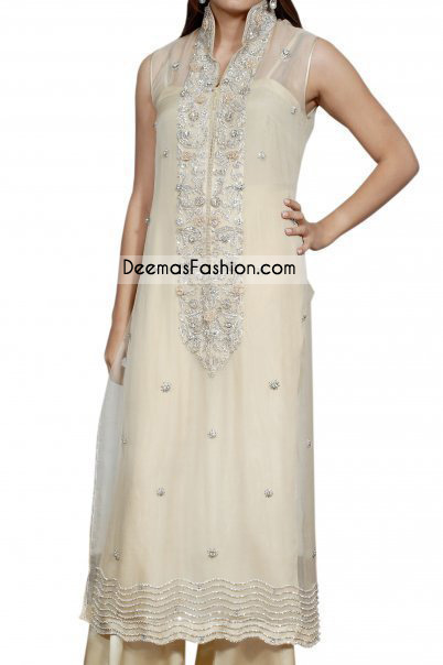 Pakistani Latest Formal Wear – Off White Dress