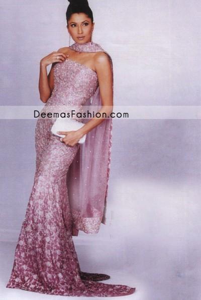 Pakistani Fashion - Pink Maroon Bridal Lehnga