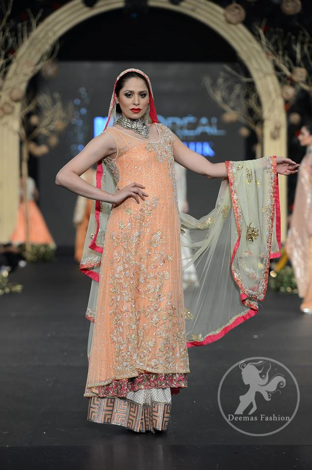Peach Back Trail Frock & Sharara