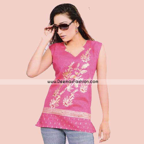 Stylish Pakistani Pink Kurta Wear