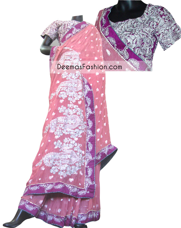 Pink-purple-Formal-Wear-Saree