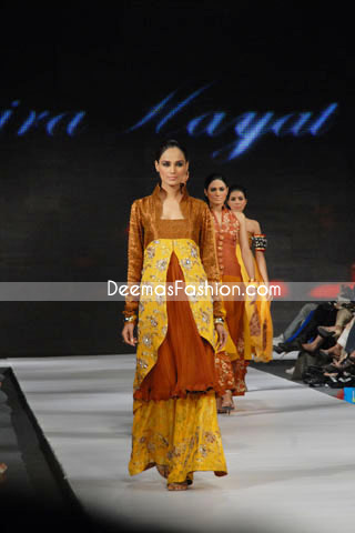 Latest Pakistani Fashion Clothes Yellow Orange