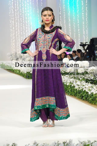 Latest Purple A-line Semi Formal Wear Dress