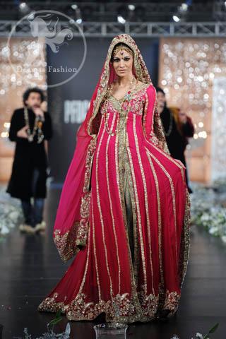 Shocking-Pink-Bridal-Wear-Anarkali-Pishwas-Dress