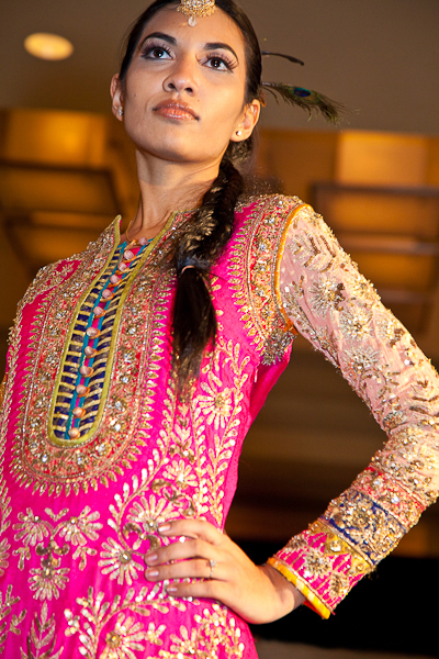 Shocking Pink Yellow Bridal Wear Long Shirt Trouser - Latest ...