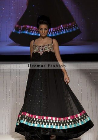 Stunning Black Party Wear Long Dress