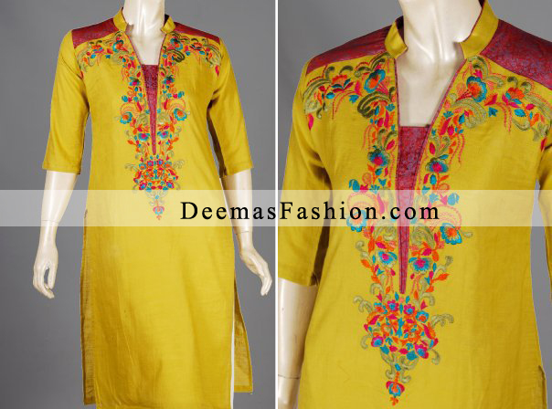 Yellow Casual Wear Dress