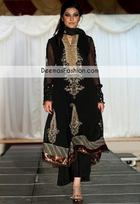black-aline-embellished-party-wear-formal-dress1