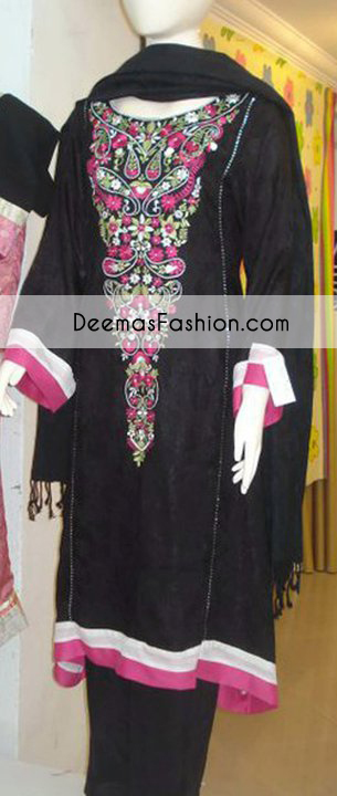 black-casual-wear-embroidered-dress1