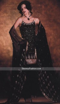 Latest Formal Design – Black Katan Silk