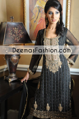 Black Heavy Formal Bridal Dress