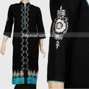 Latest Casual Fashion Black Front Open Dress