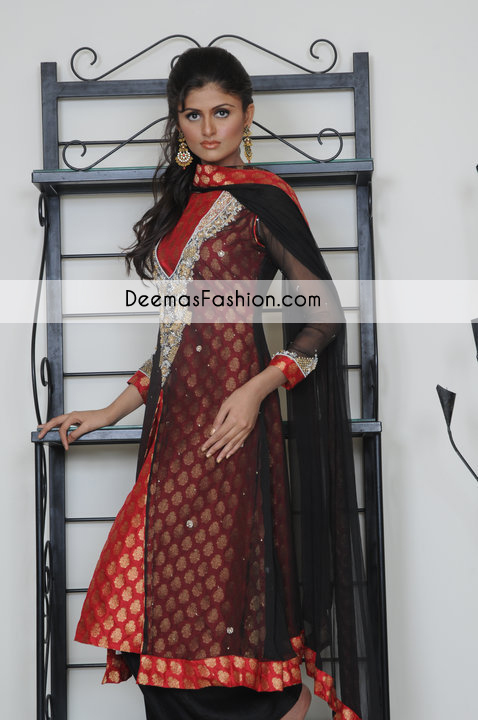 black-red-party-wear-front-open-gown1