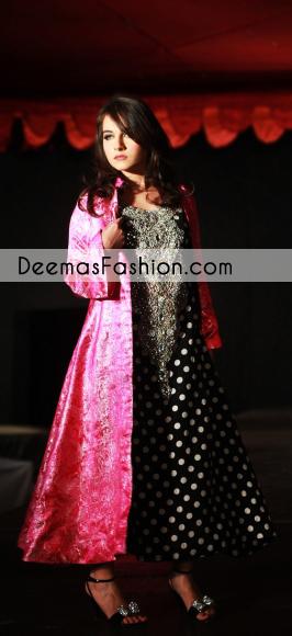 black-shocking-pink-aline-open-gown-formal-dress1
