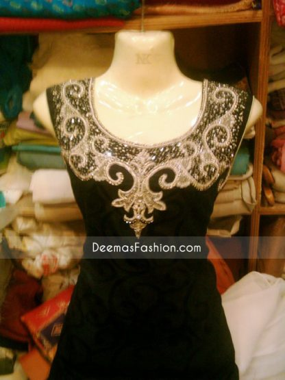 Stylish Pakistani Design Simple Black Suit