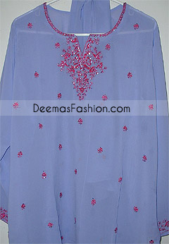 Pakistani Fashion Blue Georgette Shalwar Kameez
