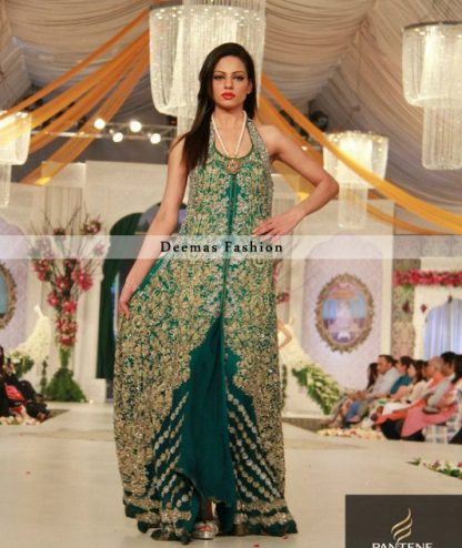 Bottle Green Heavy Bridal Dress