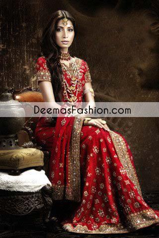Bright Red Bridal Lehnga