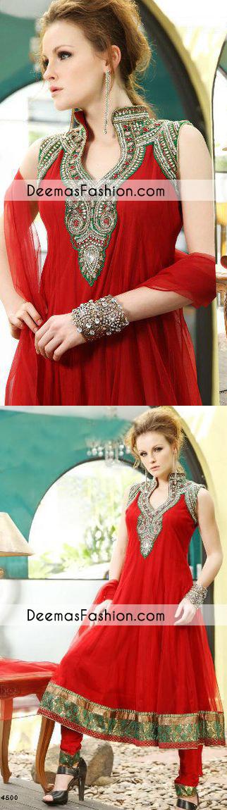 bright-red-formal-wear-anarkali-frock-churidar1