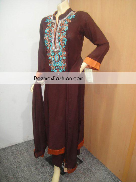 dark-brown-csual-wear-aline-dress1