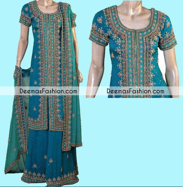 dark-ferozi-terquoise-green-bridal-sharara1