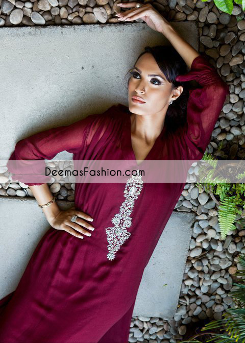 Dark Maroon Casual Aline Dress