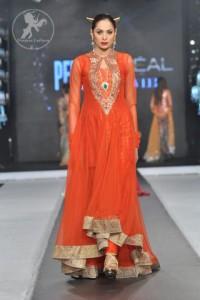 dark-orange-Aline-back-trail-Anarkali-frock-and-churidar
