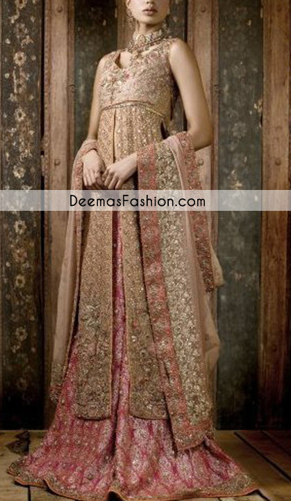 Dark Pink Sharara with Long Shirt