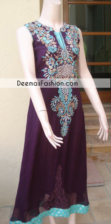 Dark Purple Aline Formal Dress