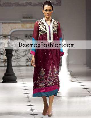 Dark Purple Designer Wear Formal Dress