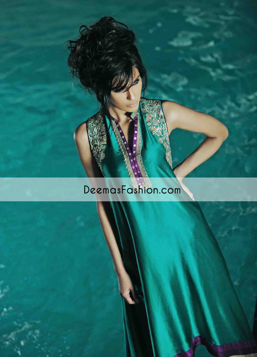 Dark Sea Green Aline Formal Dress