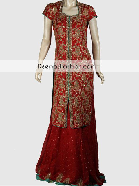Deep Red Party Wear Formal Sharara