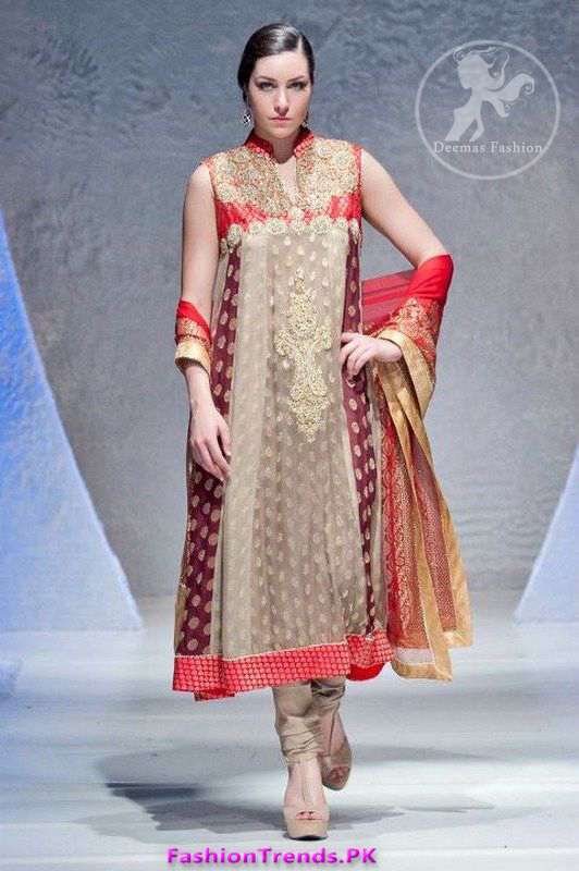 Designer Wear Multi Panel Frock & Churidar Pajama