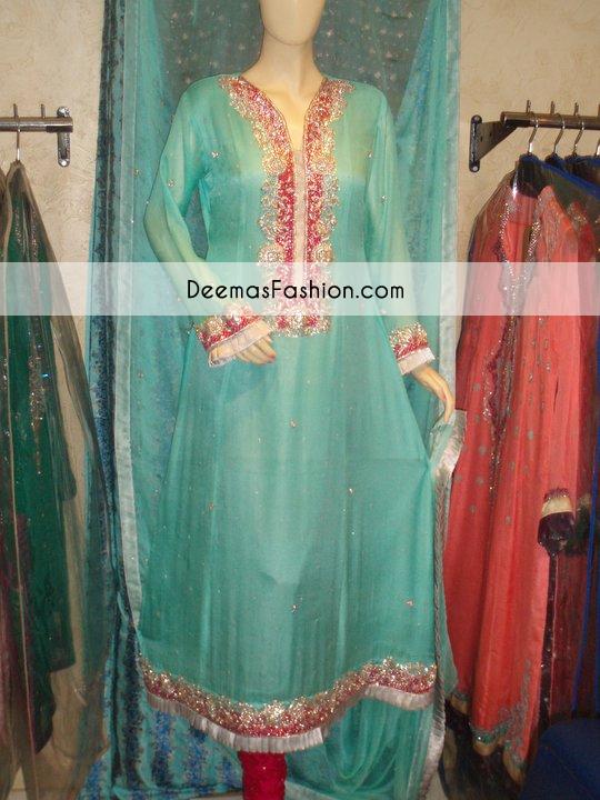 ferozi-blue-aline-party-wear-kameez-churidar1