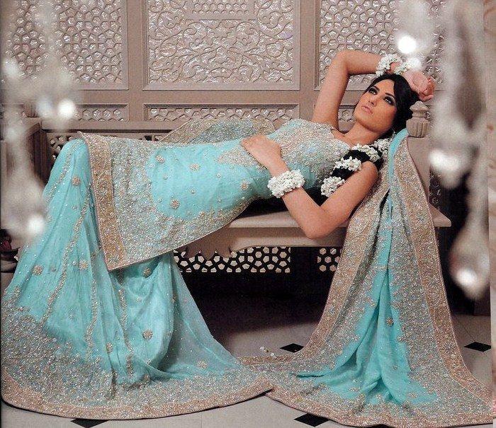 Traditional Pakistani Bridal Wear – Ferozi Sharara