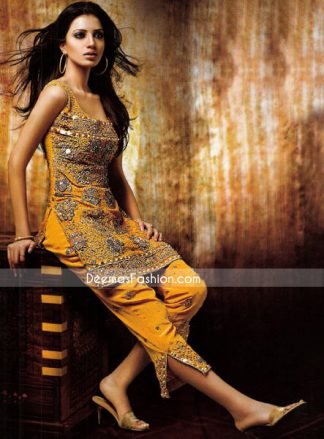 Golden Yellow Full Embroidered Shirt