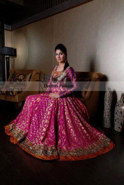 Latest Collection Shocking Pink Anarkali Pishwas