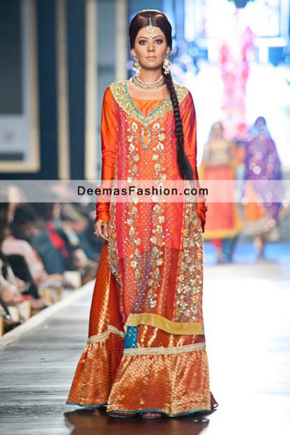 Latest Pakistani Fashion Multi Bridal Wear Sharara