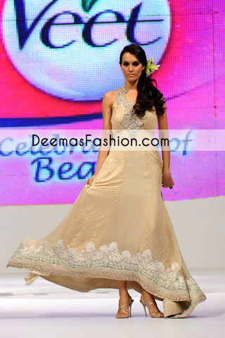 Light Brown Designer Wear Casual Pishwas