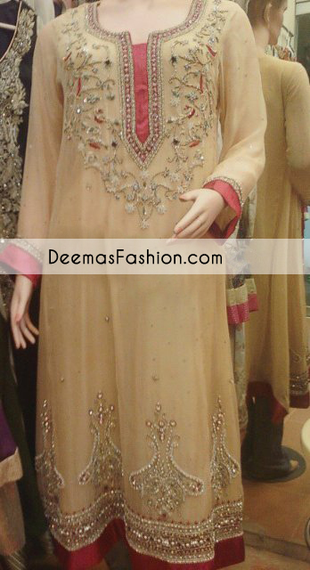 Light Golden Maroon Party Wear Dress