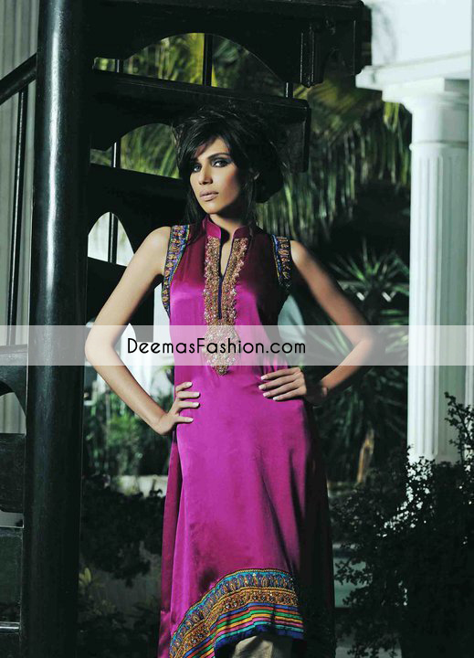 Magenta Aline Formal Wear Dress