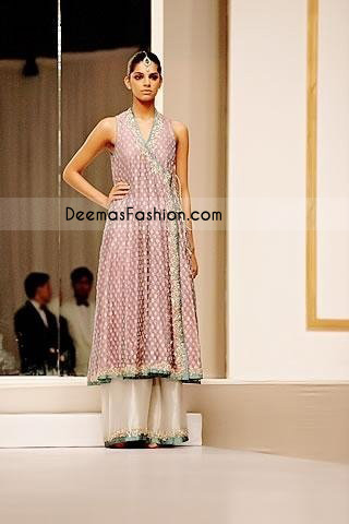 Light Purple Angrakha Style Pakistani Fashion Boutique dress