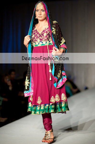 Multiple Panel Angrakha Style Frock Churidar