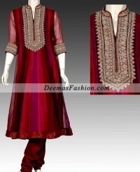 Multi Panel Embroidered Frock