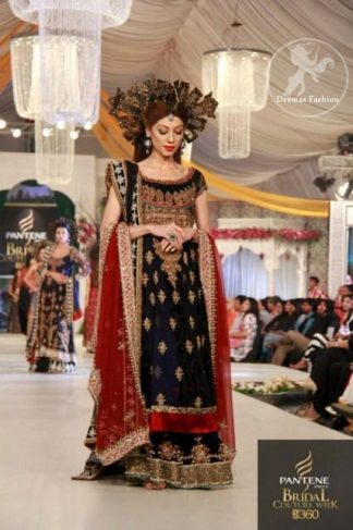 Navy Blue Bridal Frock And Lehnga