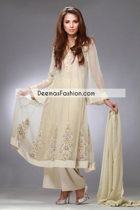 Off White Casual Wear Frock