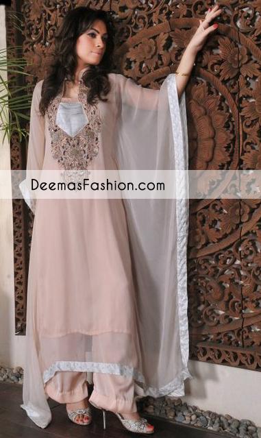 Peach Casual Wear Aline Dress