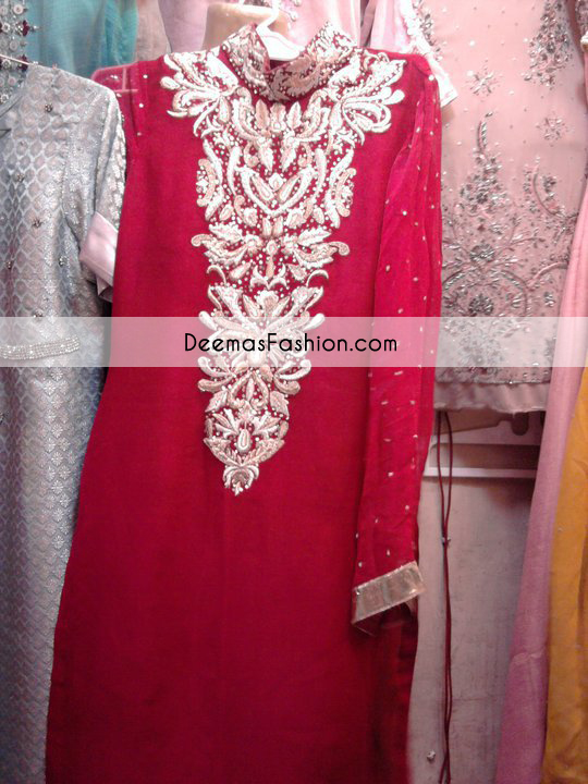Red Silver Party Wear Dress