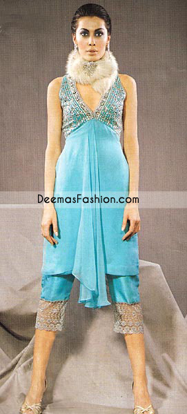 Buy Latest Ladies Wear Sky Blue Chiffon