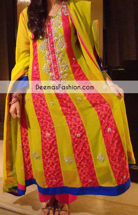 yellow-bright-pink-multi-pannel-anarkali-frock1
